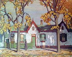 Patrick Street by Lawren Harris Group of Seven Group Of Seven Artists, Group Of Seven Paintings, Art And Illustration, Illustrations, Canadian Painters, Canadian Artists, Emily Carr, Tom Thomson Paintings, Landscape Art