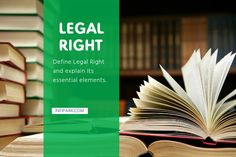 "Q. 4. Define Legal Right and explain its essential elements.  Ans. Definition of Legal Right—The different jurists have defined legal right in different ways — 1. According to Holland, ""A right is the capacity residing in one man of controlling, with the assent and assistance of the state the actions of others."" 2. According to … Essential Elements, Criminal Justice, Definitions, Essentials, Sai Ram, Holland, The Nederlands, The Netherlands, Netherlands"