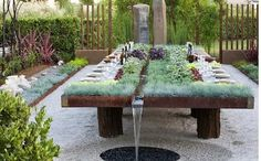Farm on table. Grow an edible garden in the middle of your table. An outdoor dining experience your guests won't forget.