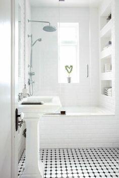 Baños Pequeños Veinticinco Diseño A La última Bathroom Flooringbathroom Interiorsmall White