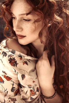 SIENNA from new story, possibility: Photograph Nejla by Nina Masic on 500px < red hair + curly hair + freckles