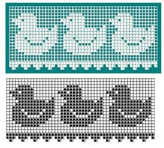 57 Ideas Knitting Lace Border Cross Stitch For 2019 Filet Crochet Charts, Crochet Borders, Crochet Diagram, Knitting Charts, Lace Knitting, Crochet Motif, Knitting Stitches, Knit Crochet, Crochet Baby
