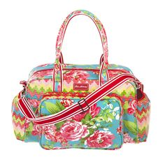 China Rose Turq Baby Bag - http://amelias-armoire.myshopify.com/collections/baby-accessories