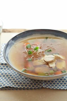 A bowl of chicken noodle soup is comfort and nourishment. Nothing fancy. Just simple, whole ingredients.