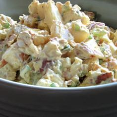 Red Skinned Potato Salad Allrecipes.com I gotta try this my cousin told me about it and is trying it today so I may make this, this week.