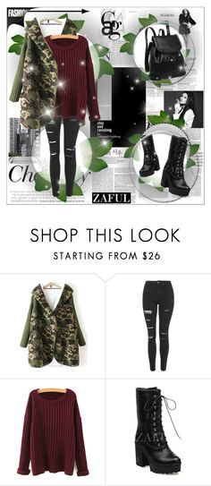 """""""ZAFUL II/11"""" by amra-softic ❤ liked on Polyvore featuring Børn, Topshop, women's clothing, women's fashion, women, female, woman, misses, juniors and zaful"""