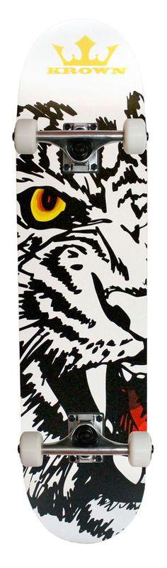 """KROWN Skateboard Bengal Tiger 7.5"""" x 31.5"""" #Krown"""