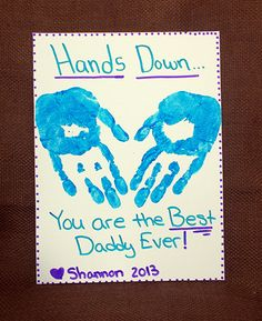 Kids Craft: Father's Day Print Canvas from @KidsVT. #Vermont #crafts
