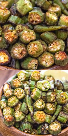 This is a simple, flavorful, and easy Baked Okra recipe. Seasoned with paprika, salt, and a pinch of cayenne, this okra makes a great snack or side dish.   FOLLOW Cooktoria for more deliciousness! Share the photos with me, I ALWAYS check!  #okra #keto #ketodiet #ketorecipe #healthyrecipe #lowcarb #vegetables #snack #sidedish