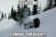 . Funny Pics, Funny Pictures, Snow Machine, Snowmobiles, Dirt Bikes, New Hobbies, Fun Time, Sled, Winter Sports