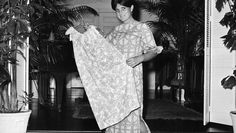 Thank you, lilly! In this March 16, 1965 file photo, Palm Beach fashion designer Lilly Pulitzer, wears her own design and creation of the Lilly shift, in Palm Beach, Fla.