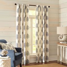 Rambagh Paisley Indigo Curtain