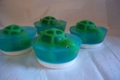 Children's Soap  Two Turtle Toy Cupcake Soaps for by DaisyKays, $5.25