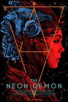 "kogaionon: "" The Neon Demon by Nikita Kaun / DeviantArt / Facebook / Twitter / Tumblr / Instagram / Society6 / Store 24"" x 36"" screen print. Private commission, not for sale. """