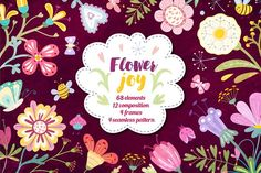 Flower joy!  by natamastery on @creativemarket