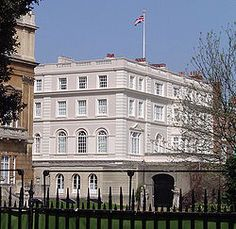 Clarence House...former home of the Queen Mother that is next to Buckingham Palace!