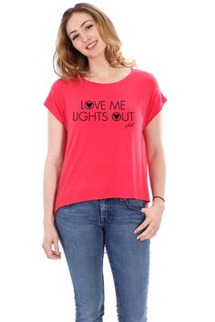 Perfect summer tee!  Love Me Lights Out Sheer Back Tee ♥ FavebyVfish on Etsy, $35.25