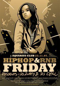 Flyer Design Ideas - Aquarius Hip Hop and RnB Flyer