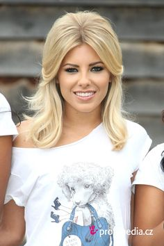 Mollie King's hair and makeup