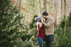 Charming Christmas Tree Engagement Photos by Boston Wedding Photographer Annmarie Swift   Featured on Heart Love Always   View more: http://www.heartlovealways.com/2014/12/charming-christmas-tree-farm-engagement-session/