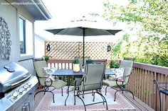 privacy screens add on for deck railings | ... first screwed through the bottom of the frame into the deck railing