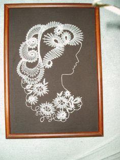 Dáma / Zboží prodejce veronyka | Fler.cz Romanian Lace, Parchment Cards, Lace Art, Pattern Cutting, Lace Making, Bobbin Lace, String Art, Mandala, Projects To Try