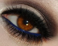 chocolate and navy smokey eye