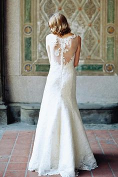 An illusion back design on Skylar ♥ See more here: Sareh Nouri Bridal 2014 Collection & Exclusive Interview   Confetti Daydreams ♥  ♥  ♥ LIKE US ON FB: www.facebook.com/confettidaydreams  ♥  ♥  ♥ #Wedding #WeddingDress #WeddingGown @Sareh Nouri