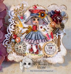 Bestie card by Irene Mendes.... (pinned directly from her, but it's not linked to her blog)
