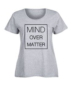 Athletic Heather 'Mind Over Matter' Scoop Neck Tee - Plus
