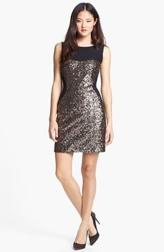 Aidan by Aidan Mattox Sequin & Ponte Knit Sheath Dress available at #Nordstrom