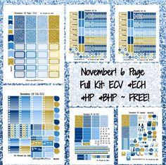 November Weekly KIT!   Free Printable Planner Stickers