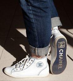 Chanel High Top Trainers. Well if Chanel are doing it...