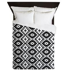Queen Duvet Cover  Black And White Mix  Ornaart Design by Ornaart, $199.00