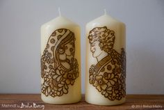Remeber yourbig day with Mehndi Candles.