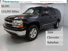 Car of the day!!!! 2004 Chevy Suburban!!!!