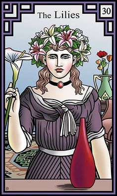 30 - The Lilies - Burning Serpent Oracle par Robert M Place & Rachel Pollack