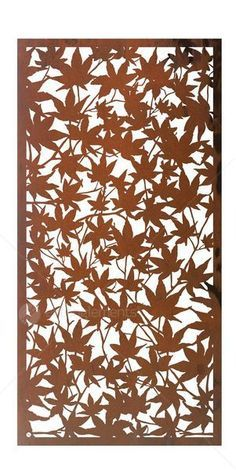 Entanglements Laser Cut Metal Art - 'Forest Floor' design