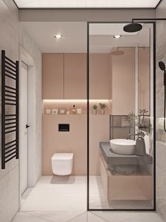 38 Modern Bathroom Decor and Design Ideas For More Attractive Home ~ Ideas for House Renovations Bathroom Design Small, Bathroom Interior Design, Bathroom Designs, Interior Decorating, Decorating Bathrooms, Bathroom Inspiration, Bathroom Ideas, Bathroom Pink, Bathroom Vanities