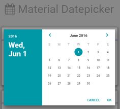 Date Picker Material Design