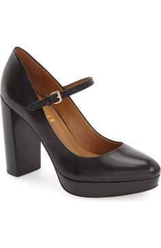 COACH 'Goldie' Mary Jane Platform Pump (Women) available at #Nordstrom
