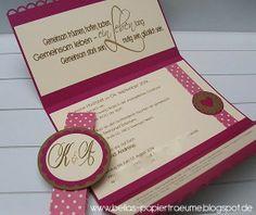 {Bellas} Papierträume: Hochzeitseinladung