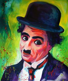 Charlie Chaplin - Original Painting By Kellie Newsome using Atelier Interactive Professional Artists' Acrylic