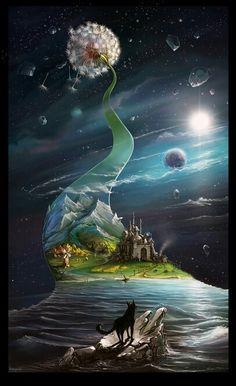 Une légende qui se ressource autour de son nouveau royaume...! Art digital par Igor Artyomenko ...