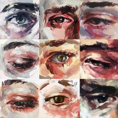 Eye close ups from pieces over the last few years elly smallwood Art Sketches, Art Drawings, Elly Smallwood, Gcse Art Sketchbook, Sketchbooks, Art Et Illustration, Landscape Illustration, Guache, Wow Art
