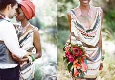 African wedding inspiration   photo by Ashley Kelemen   styling by Thorne Artistry   100 Layer Cake
