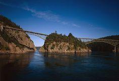 Deception Pass Bridge.  Oak Harbor, Washington