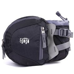 EGOGO travel sport waist pack fanny pack hiking bag with water bottle holder (Black). The strap is made of durable and sturdy material, so it can be used for a long time. Short strap with a hook inside to secure keys. Tight stitching. High quality zippers. Perfect small waist pack for traveling, cycling, running, exercising, amusement park. You can put your ID cards, keys, cash, camera, phone, snacks inside. There is a water bottle holder on the right of the waist, which has a strap to...