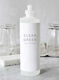 Clean Green - recipes for All-Purpose Scrub and Window Cleaner