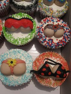 lingerie cupcakes ~ fun for a bridal shower